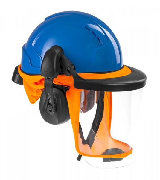 CleanAIR Schutzhelm CA-4 – orangefarbene Gesichtabdichtung