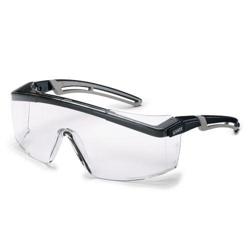 uvex Schutzbrille astrospec 2.0, 9164187, schwarz/grau, PC farblos, Öl & Gas