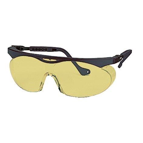 uvex Schutzbrille 9195020 skyper schwarz, PC amber, kratzfest, chemikalienbeständig