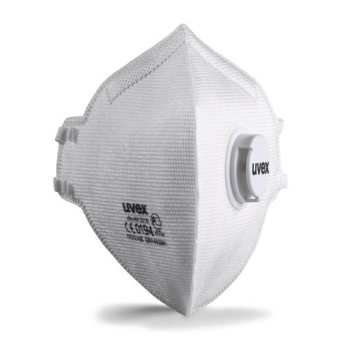 uvex Atemschutzmaske silv-Air C 3310 FFP3 NR D, Faltmaske mit Ausatemventil