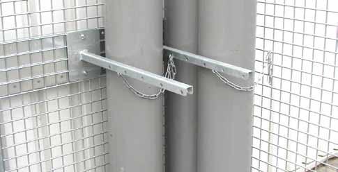 Bauer Haltevorrichtung mit Kettensicherung, für Gasflaschen-Container Typ GFC-M