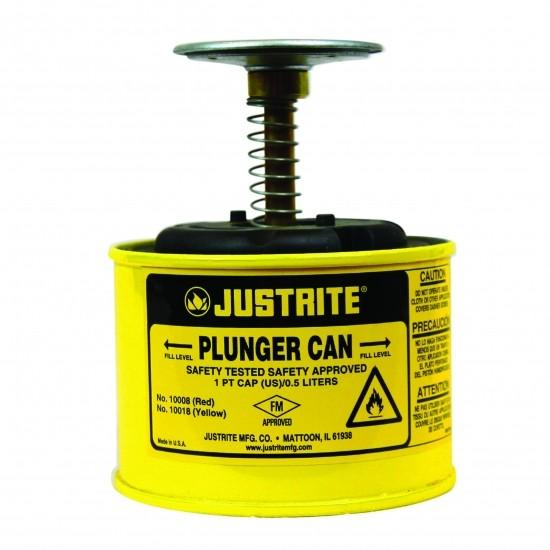 Justrite Sicherheits-Sparanfeuchter 1 Liter, Dasher Ø 128 mm, Stahl Pulverbeschichtet