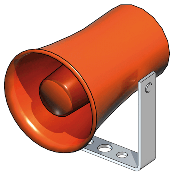 B-Safety Sirene BR 870 600 (8x Töne einstellbar) Standard, für Notduschen