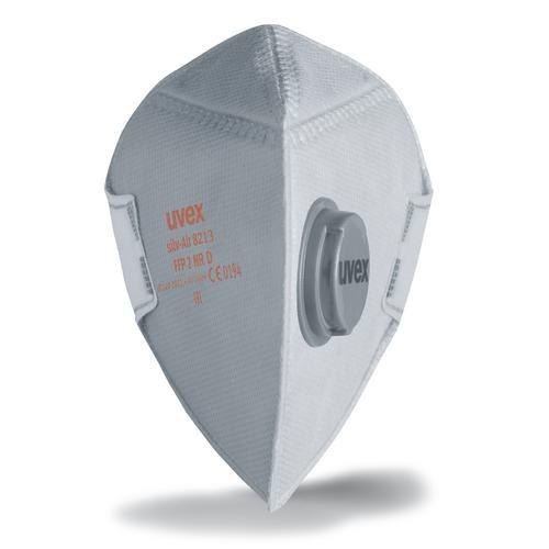 uvex Atemschutzmaske silv-Air p 8213 FFP2 NR D, Faltmaske mit Ventil