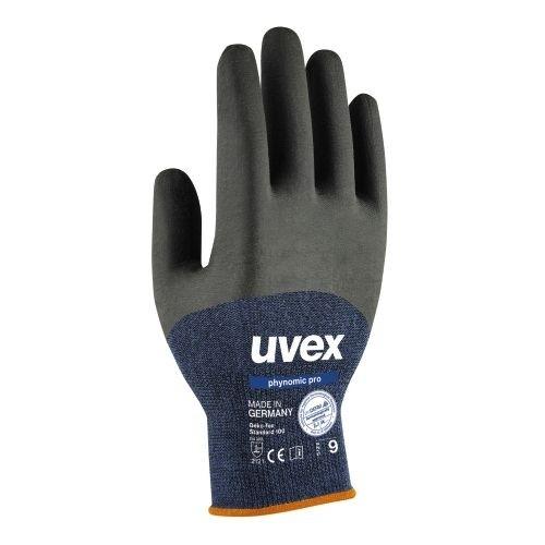uvex Schutzhandschuhe phynomic pro blau/anthrazit, schmutzunempfindlich, feuchtigkeitabweisend