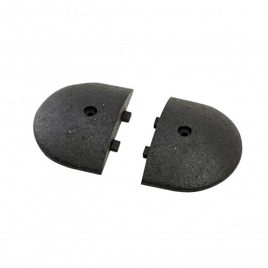 Checkers Easy Rider® Endkappen, Gummi, 22 x 30 x 5,6 cm, schwarz, für Bremsschwellen