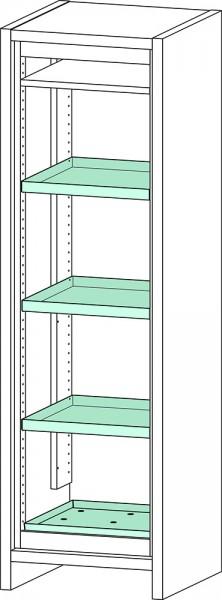 Priorit Sicherheitsschrank Priocab Typ30, EN31.196.060, 1-flügelig, 3 Wannenböden, Stahlblech
