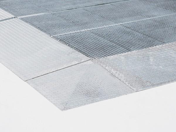 Auffahrecke Stahl verzinkt, 730 x 730 mm, für Bodenelemente