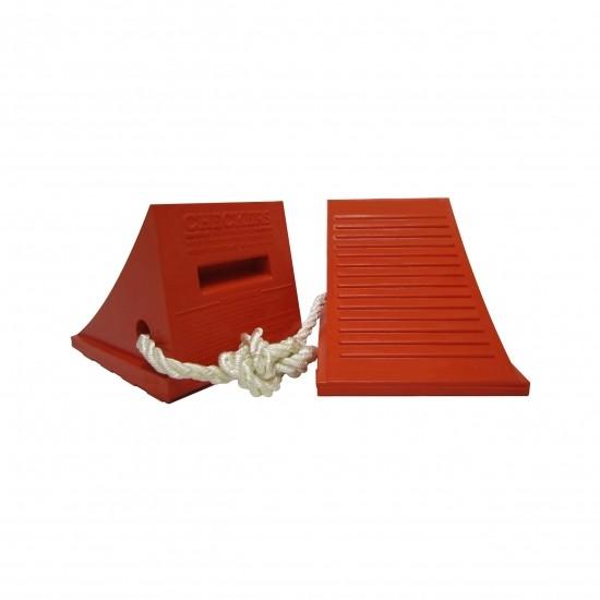 Checkers Urethane Chocks Unterlegkeile UC1500-4.5-P, orange, 29 x 23 x 21 cm, 2 St.