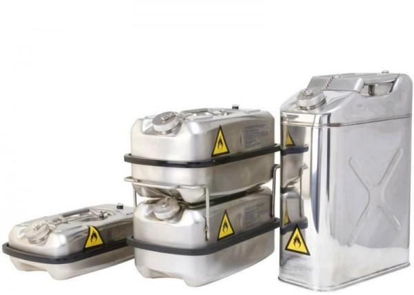 Transport-Kanister 10 l aus Edelstahl mit Schraubkappe, UN-Zulassung