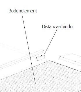 Distanzverbinder, Stahl verzinkt, 25 x 120 mm, für Bodenelemente