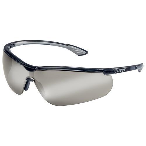 uvex Schutzbrille 9193885 sportstyle schwarz/anthrazit, PC Silberspiegel grau