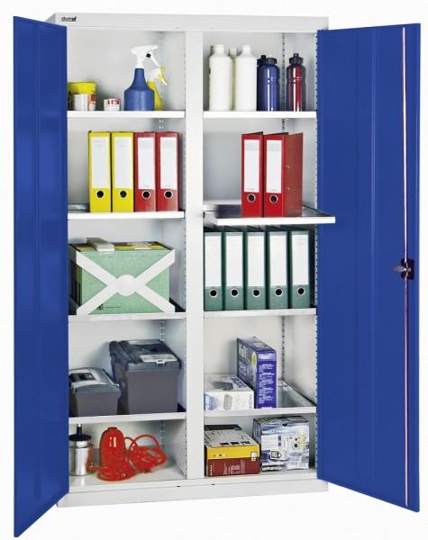 Stumpf Metall Werkzeug- und Materialschrank Serie 3000, 1800 x 1000 x 500 mm, 8 Wannenböden