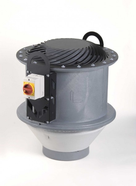 Dachventilator FDvF 250/280/4/PTC, 480 - 3250 m³/h, 4-polig, Flatausführung