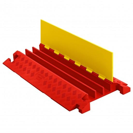 Checkers Linebacker Heavy Duty 3 Kanal-Kabelschutz, 91x51x8cm, Klappdeckel, gelb/orange
