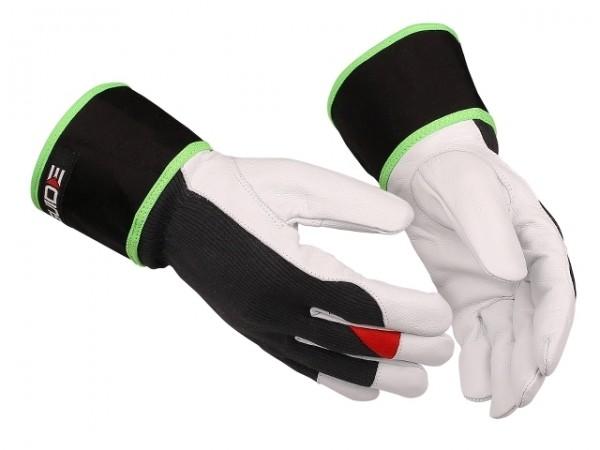 Sicherheitshandschuhe 48 Guide aus Textil/Leder, Stulpe mit Reflex-Keder