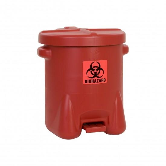 Eagle BioHazardous Entsorgungsbehälter 947BIO, 53 L, Polyethylen (PE), rot, mit Fußpedal