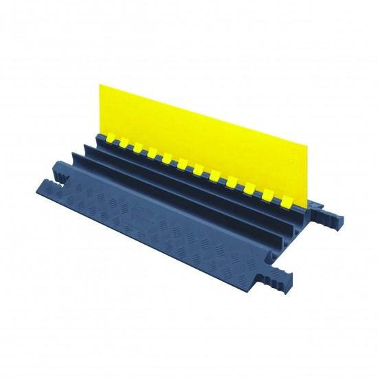 Checkers Grip Guard 3-Kanal-Kabelschutz mit Klappdeckel, gelb/grau, 91x46x6cm