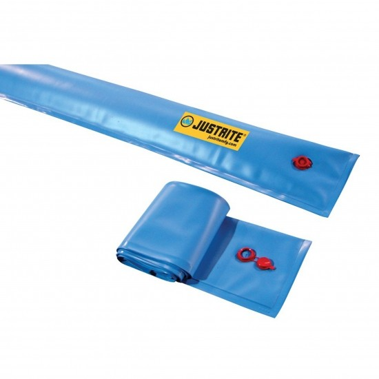 Justrite Wassergefüllter Flüssigkeitsumlenker 28450, blau, 1,5 m