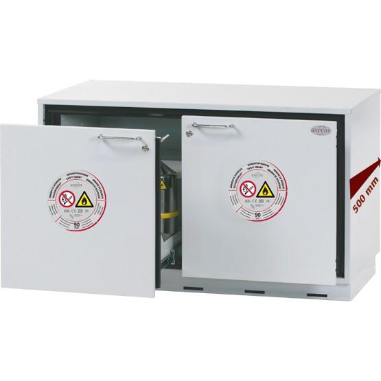 Sicherheitsunterbauschrank UB-S-90 Modell UB90.060.110.050.2S, Sondertiefe 500mm, 2 Schubladen