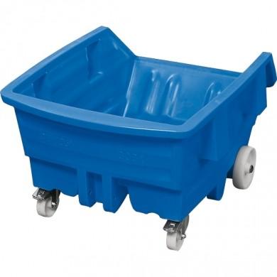 H.13066 - Kippwagen Polyethylen blau, mit Rollen, 500 Liter, 960 x 1440 x 825