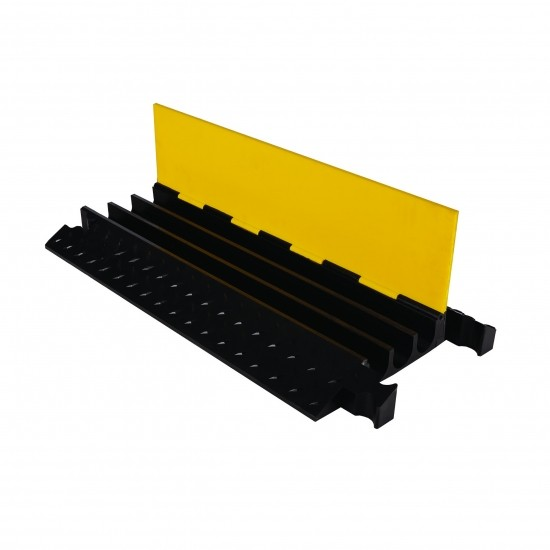 Checkers Yellow Jacket 3-Kanal-Kabelschutz, Klappdeckel, gelb/schwarz, 91x47x7cm