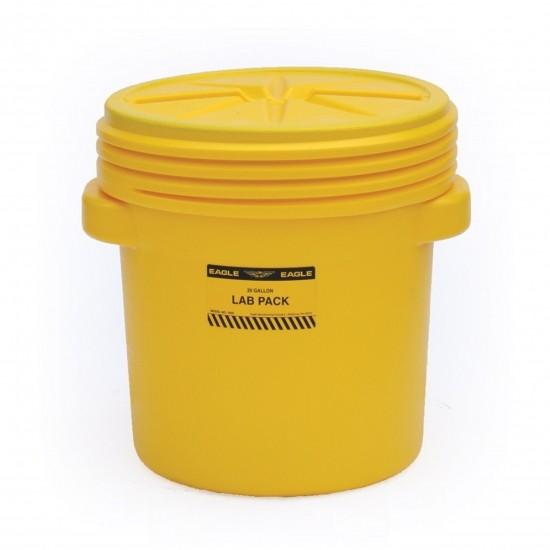 Eagle 20 Gallon Lab Pack Trommel 1650, PE, 76 L, gelb, mit Schraubdeckel