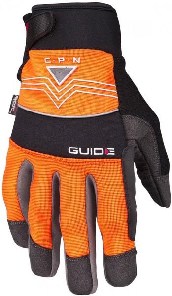 Schnittschutz-Handschuhe 6401 CPN Guide aus Synthetikleder, Hi-Vis, Knöchelschutz