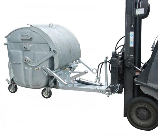 Bauer Kippomat Typ KM, Transport, Abkippen und Reinigen von Müllgroßbehälter, DIN EN 840-3
