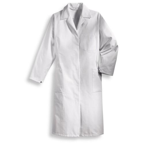 uvex Berufsbekleidung whitewear Damenmantel weiß Modell 239 aus Baumwolle