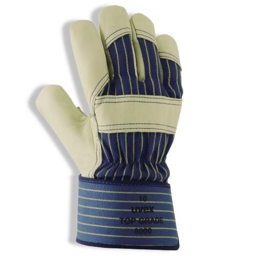 uvex Rindslederschutzhandschuh Top Grade 8000 mit Baumwoll-Handrücken