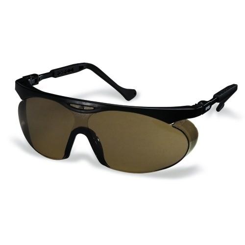 uvex Schutzbrille 9195278 skyper schwarz, PC braun, kratzfest, beschlagfrei