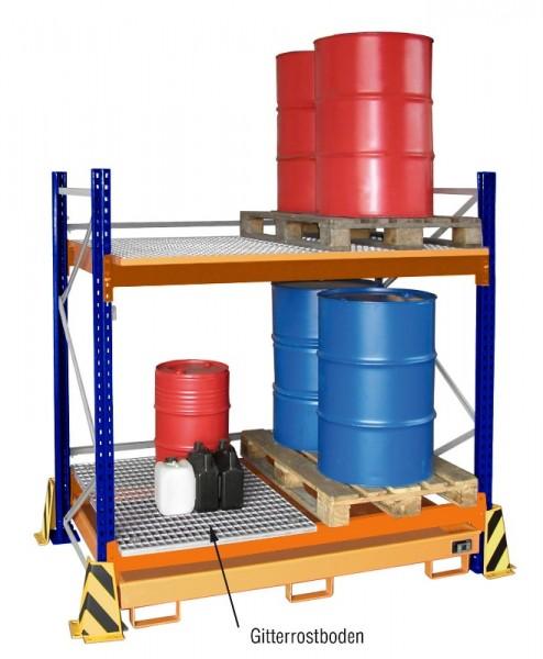 Bauer Palettenregal Typ PR - Modul - Gitterrostboden 865 x 1230 x 30 mm, verzinkt