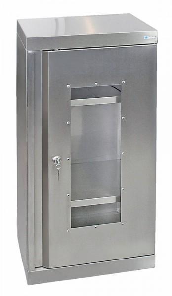 STM-CabinOX Edelstahl-Sichtfenster-Schrank, 900 x 450 x 400 mm, Stellschrauben