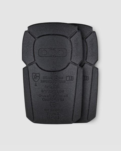Dunderdon Knieprotektoren KP1, EN 14404, Typ 2, Sicherheitsklasse 2, schwarz, 2-er Pack