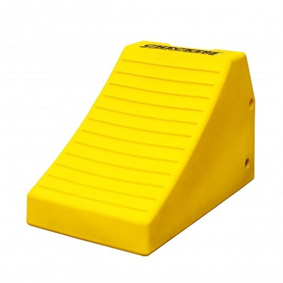 Checkers Monster Chocks Schwerlast-Unterlegkeil MC3011, gelb, 62 x 37 x 40 cm