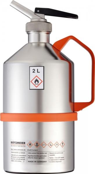 Rötzmeier Sicherheitskanne Typ 02D, 2 L, poliert