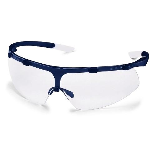 uvex Schutzbrille super fit, 9178265, navy blue/weiß, PC farblos