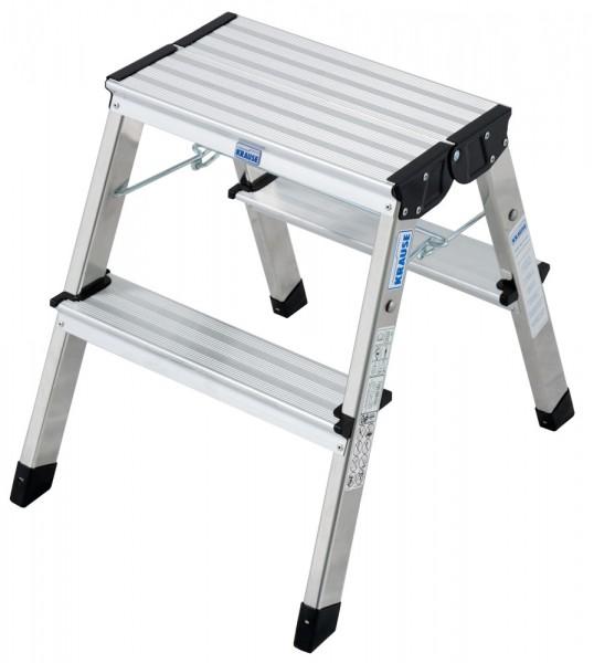 Krause MONTO Doppel-KlappTritt Treppy, 2 x 2 Stufen, Aluminium