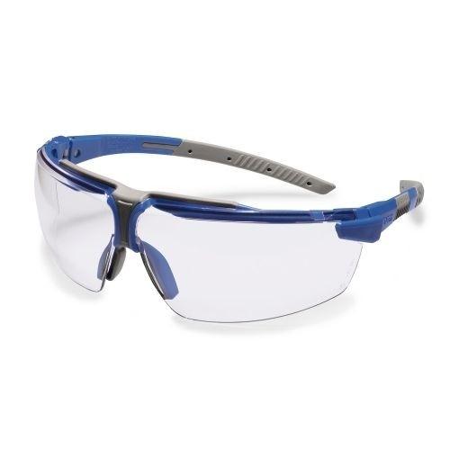 uvex Schutzbrille 9190065 i-3 s, schmal, blau/grau, PC farblos, metallfrei, kratzfest