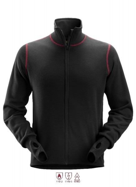 Snickers Workwear 1563 ProtecWork Wollfrotte-Arbeitsjacke, schwarz, antistatisch