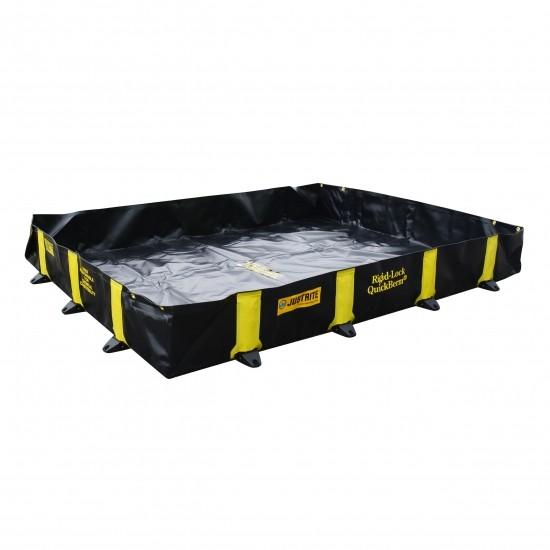 Justrite befahrbare Faltwanne 28516, schwarz, 1344 L, 1,8 x 2,4 m, für Fässer, IBC, Tanks