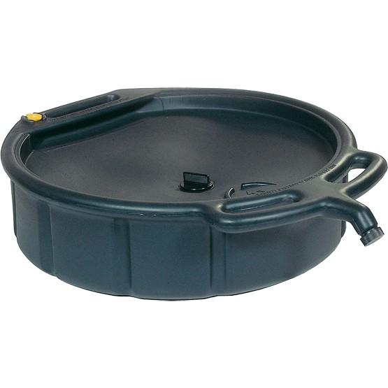 Altöl- und Kühlflüssigkeitswanne 14 Liter, geschlossen, PE, schwarz