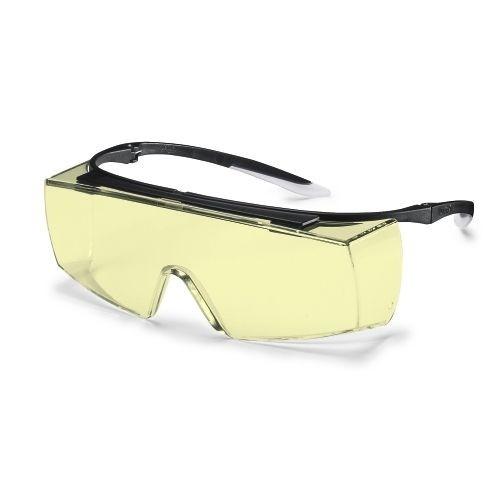 uvex Überbrille 9169580 super f OTG, schwarz/weiß, PC amber, Kontraststeigernd, Kratzfest