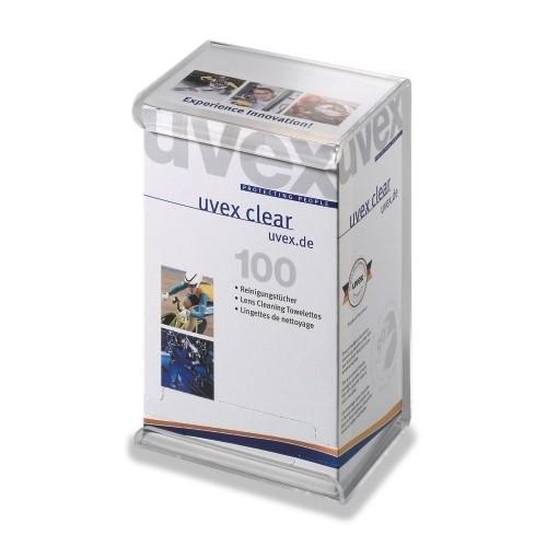 uvex Feuchtreinigungstücher 9963000, 100 Stück, einzeln verpackt, silikonfrei
