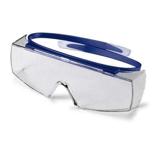 uvex Überbrille 9169065 super OTG, navy blue, PC farblos, Kratzfest, Chemikalienbeständig