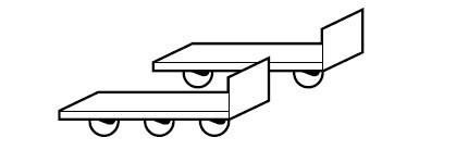 Transportsystem Q-Mover, 600 x 140 x 130 mm, 2 Stück