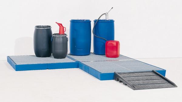 Bodenelement aus PE, PE Gitterrost, 170 L, Radlast 150 kg, 2200 x 790 x 150 mm