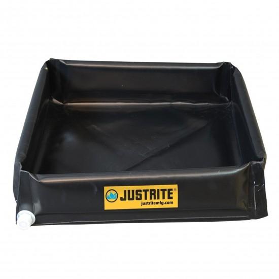 Justrite flexible, tragbare Mini-Auffangwanne 28444, 208 L, schwarz, 1,2 x 1,2 m