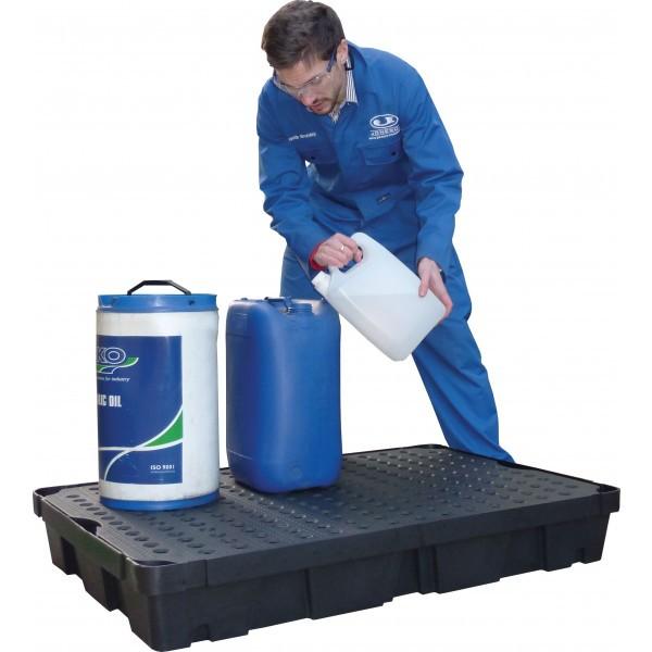 Essentials DIBt-PE-Auffangschale mit Gitterrost, 40 Liter, PAKE275SWD